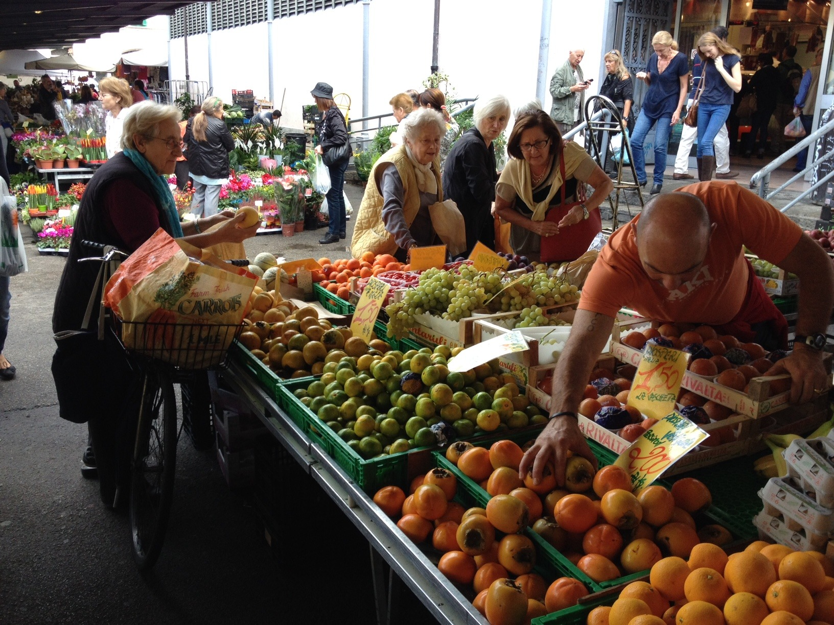 We loved the fact that people of all ages were enjoying the market.