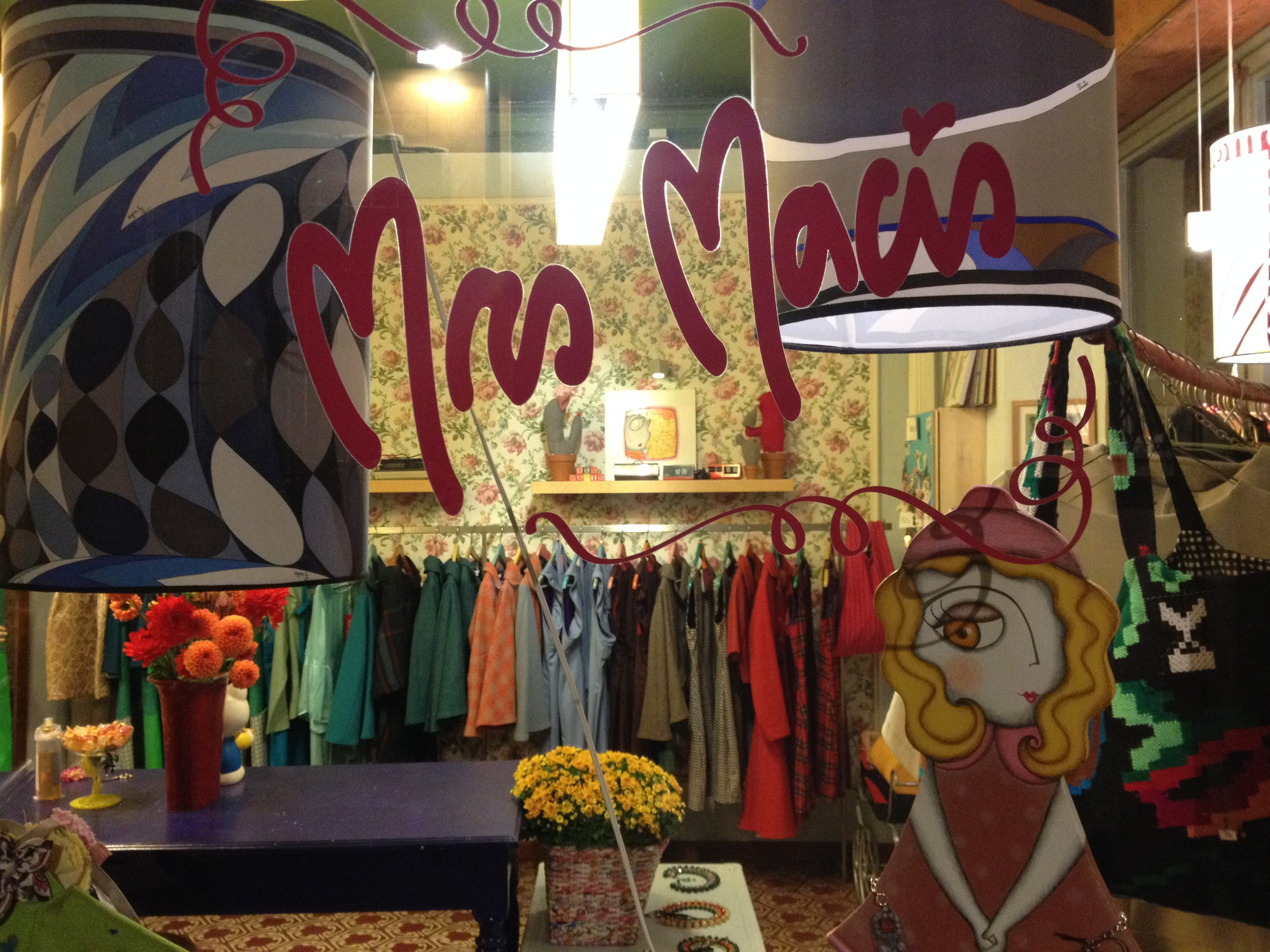 Mrs Macis is a colourful, playful vintage shop.