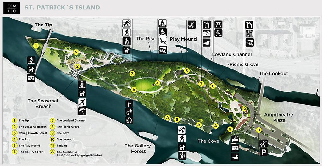 Kudos to CMCL for its community engagement and ability to incorporate almost everything on my wish list for St. Patrick's Island.