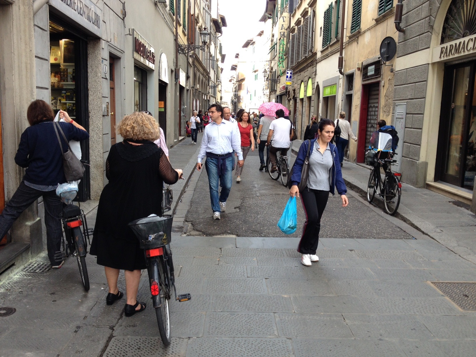 Urban living is about diversity? Young and old? Bikes and pedestrians? Residents and retail?