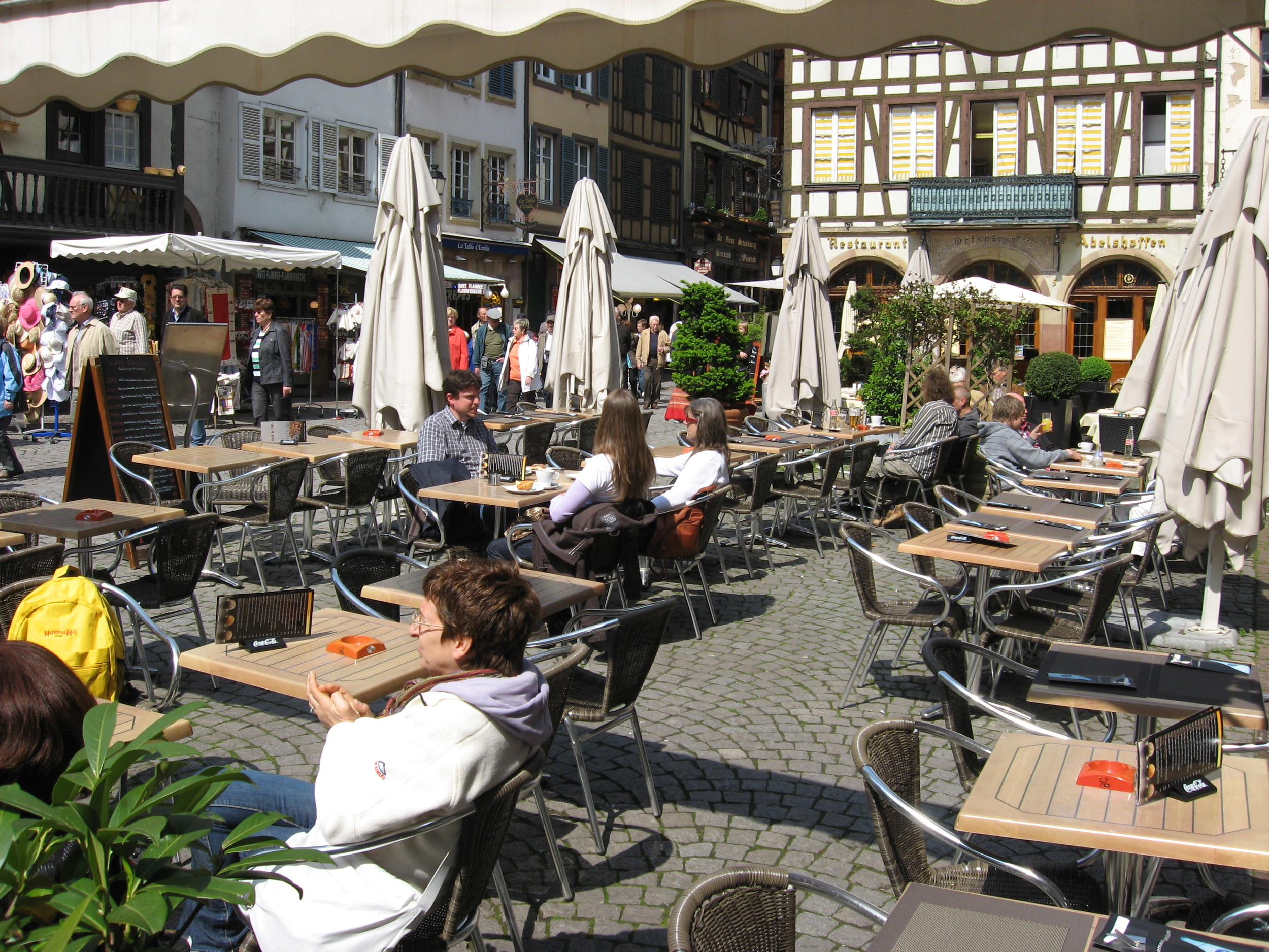 Urban living is about great public spaces, like this one in Strasbourg, France.