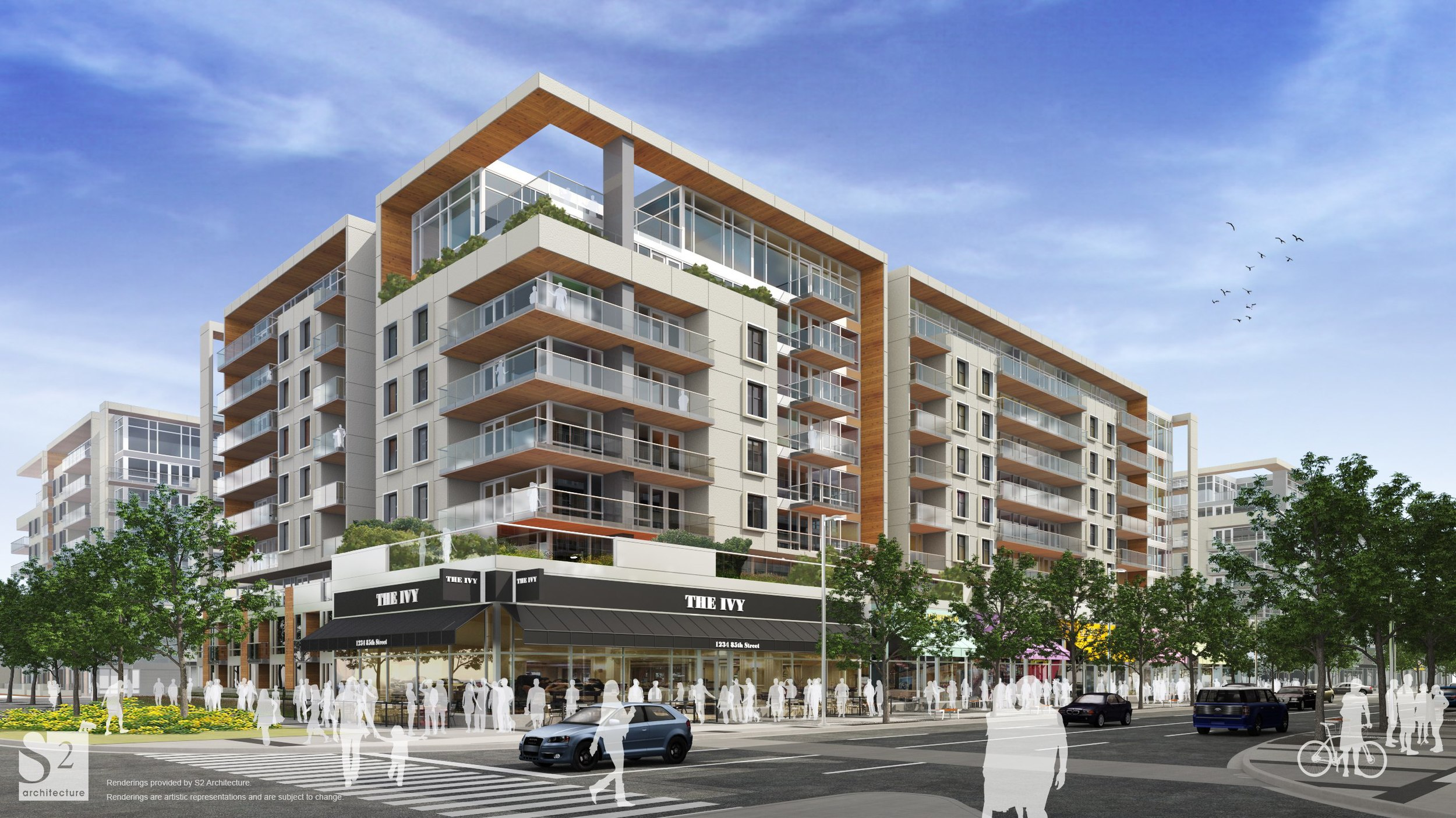 Rendering of condo concept for West District (photo credit: Truman Development).