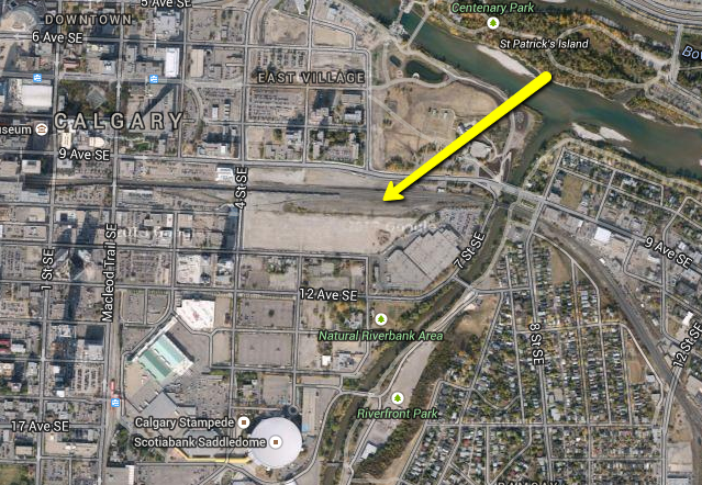Remington Development's Railtown site was once thought to be site for a arena. It is next to the future SE LRT station and could include a mix of office and condo towers. ( image credit Ross Aitken)