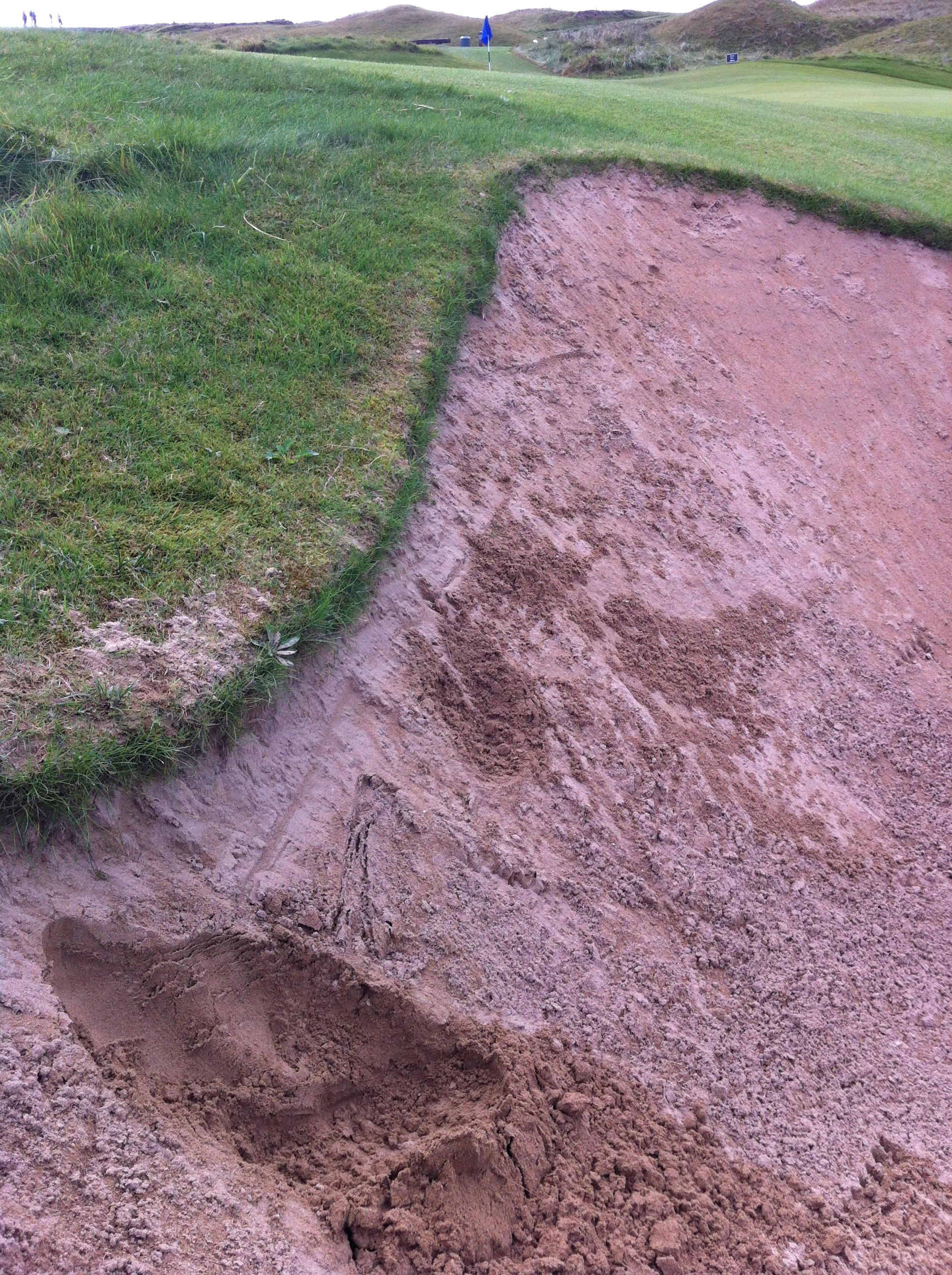 My bold sand shot was close enough to the pin that I was able to one put and make my par. Beauty eh!