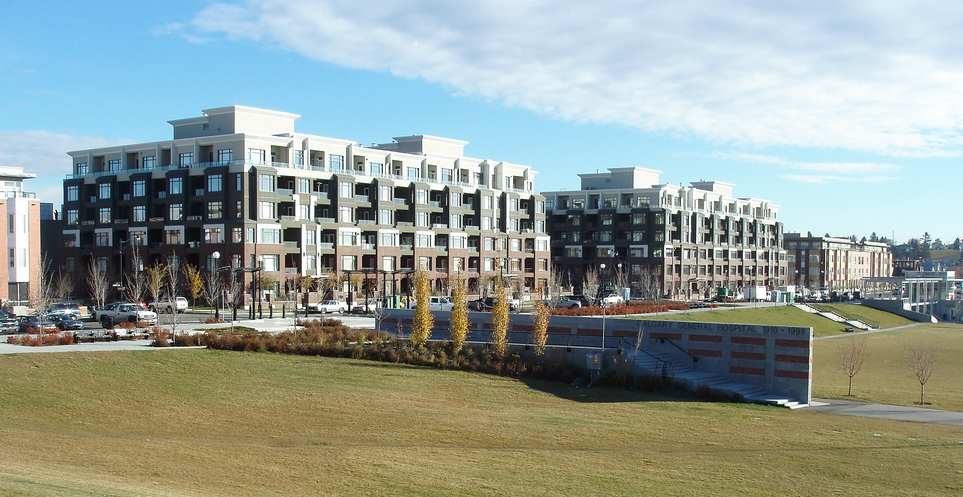 The Bridges is a master planned community on the site of the old General Hospital on the northeast edge of the City Centre, based on transit oriented development principles.