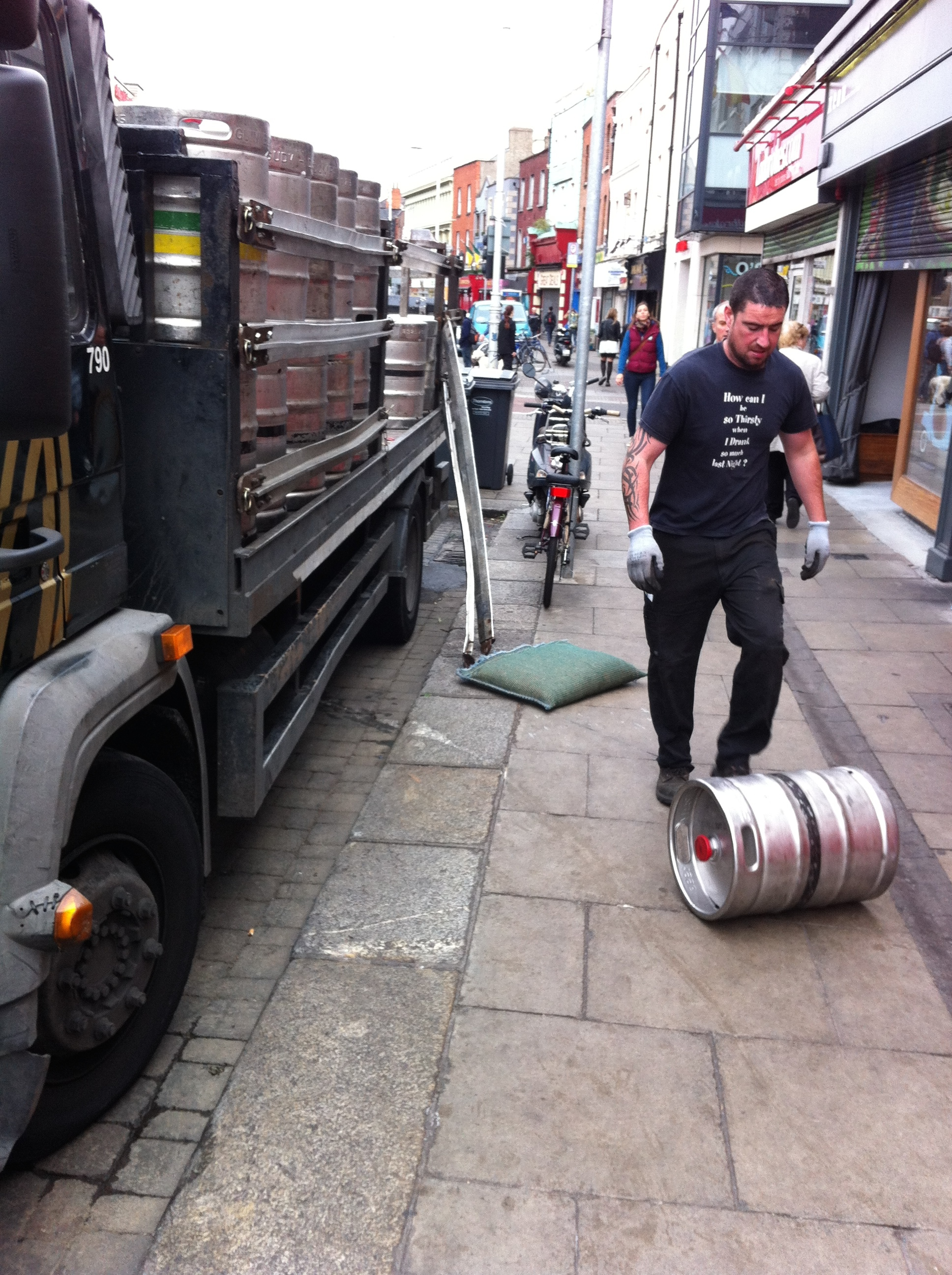 Guinness Time! It was music to our ears when we heard the fresh kegs of Guinness being delivered.