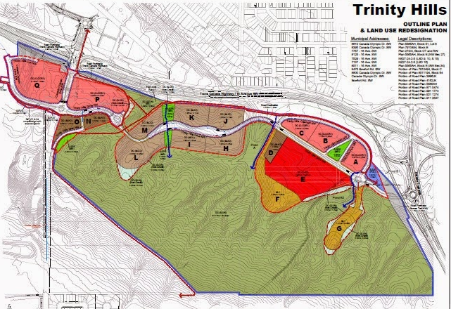 The Outline Plan clearly illustrates how the sensitive upper slopes will remain as green space with all of the development along the bottom with links to Canada Olympic Park.