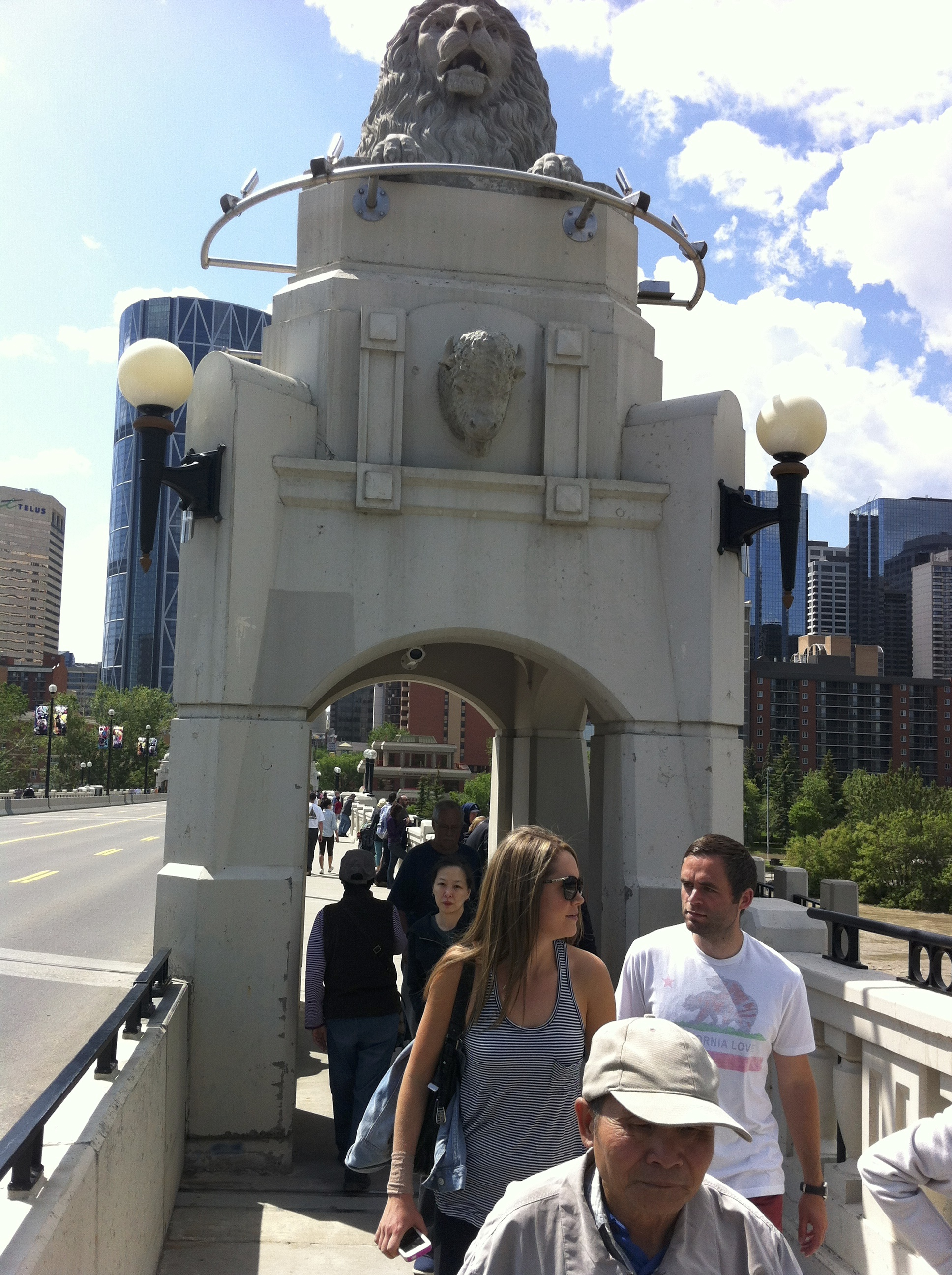 Centre Street Bridge is a popular pedestrian link between upper and lower Chinatown.