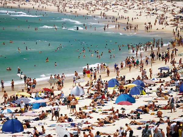 Sydneysiders love going to the beach.