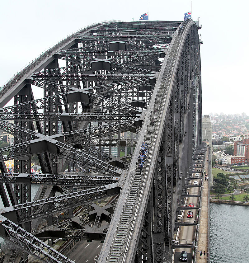 One of the signature things to do when visiting Sydney is to walk across the Coathanger bridge.
