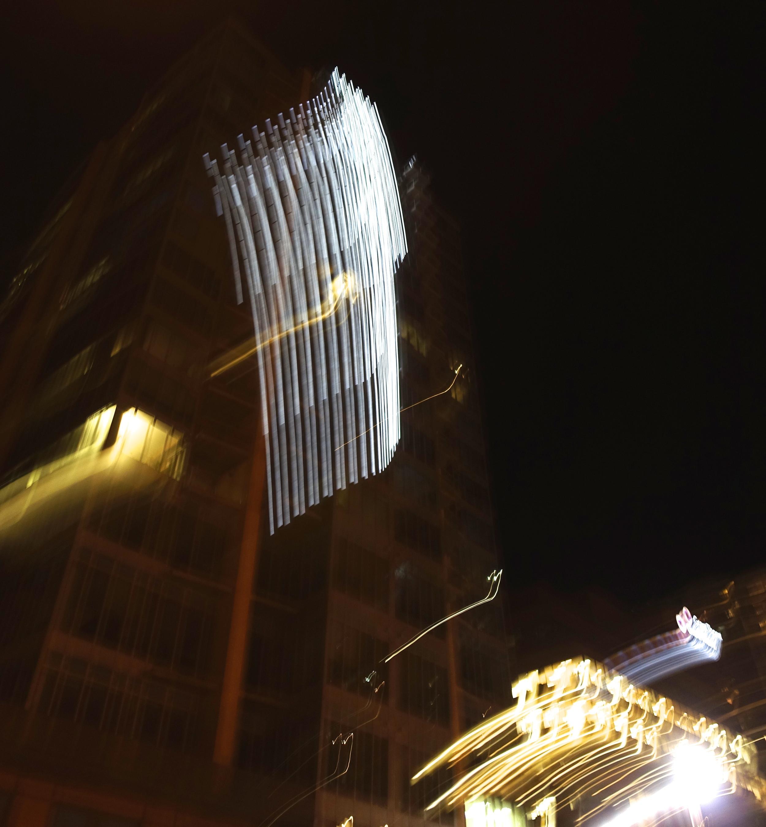 West End condo light show.