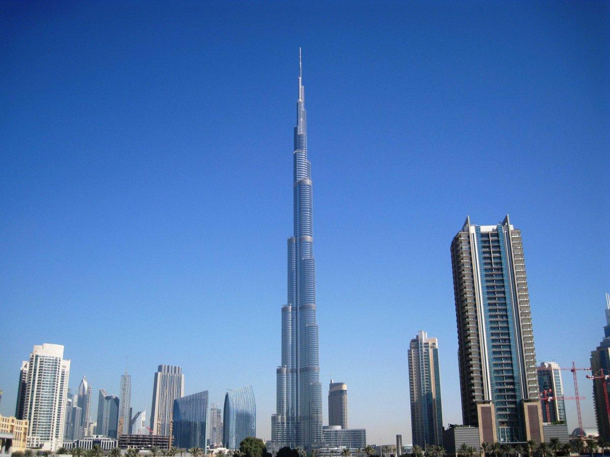 The Burj Khalifa soars about all of Dubai's tall towers.