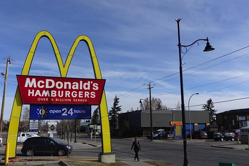Calgary's first McDonalds