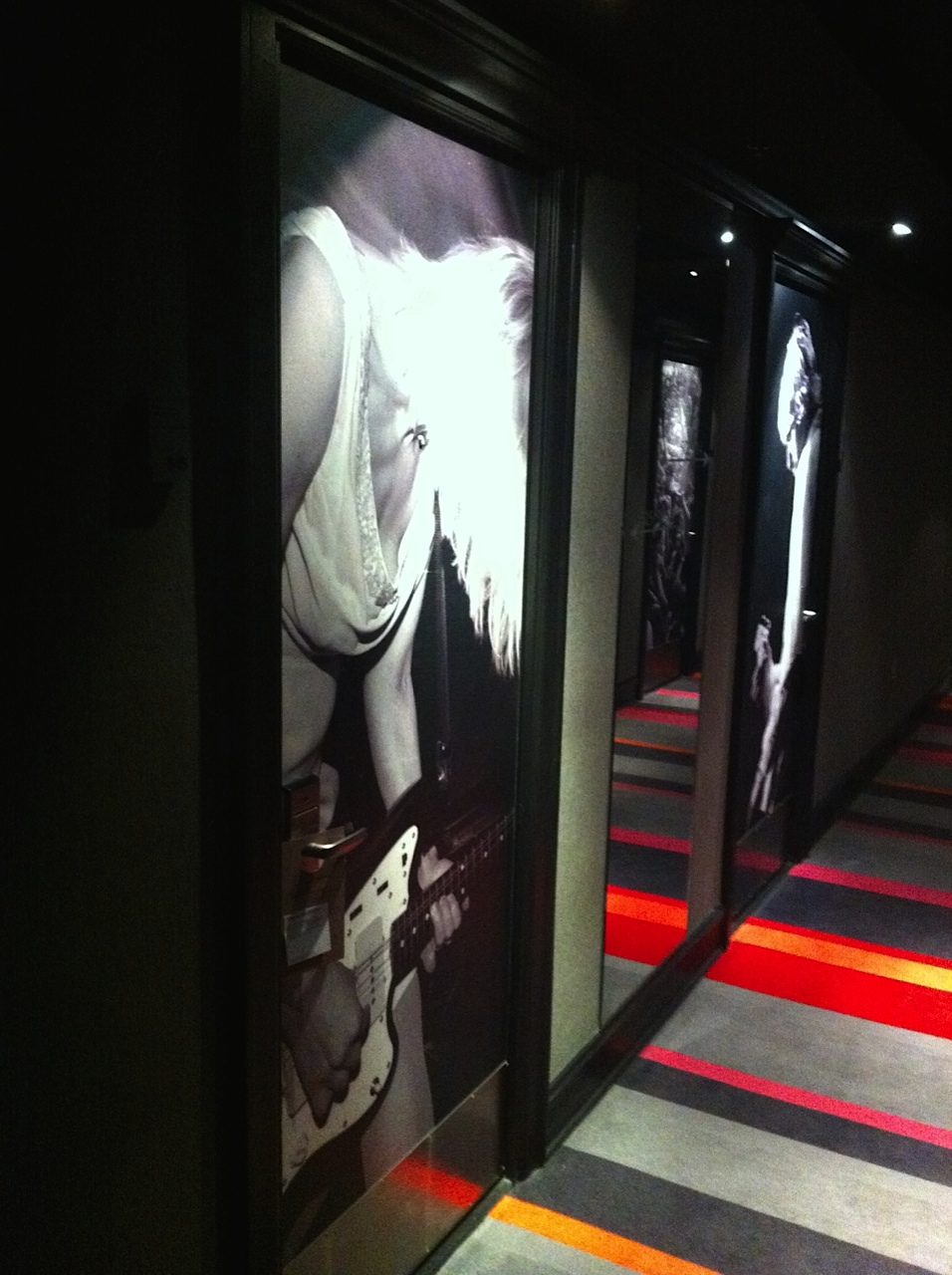 The hallway on the fifth floor as we exit the elevator.