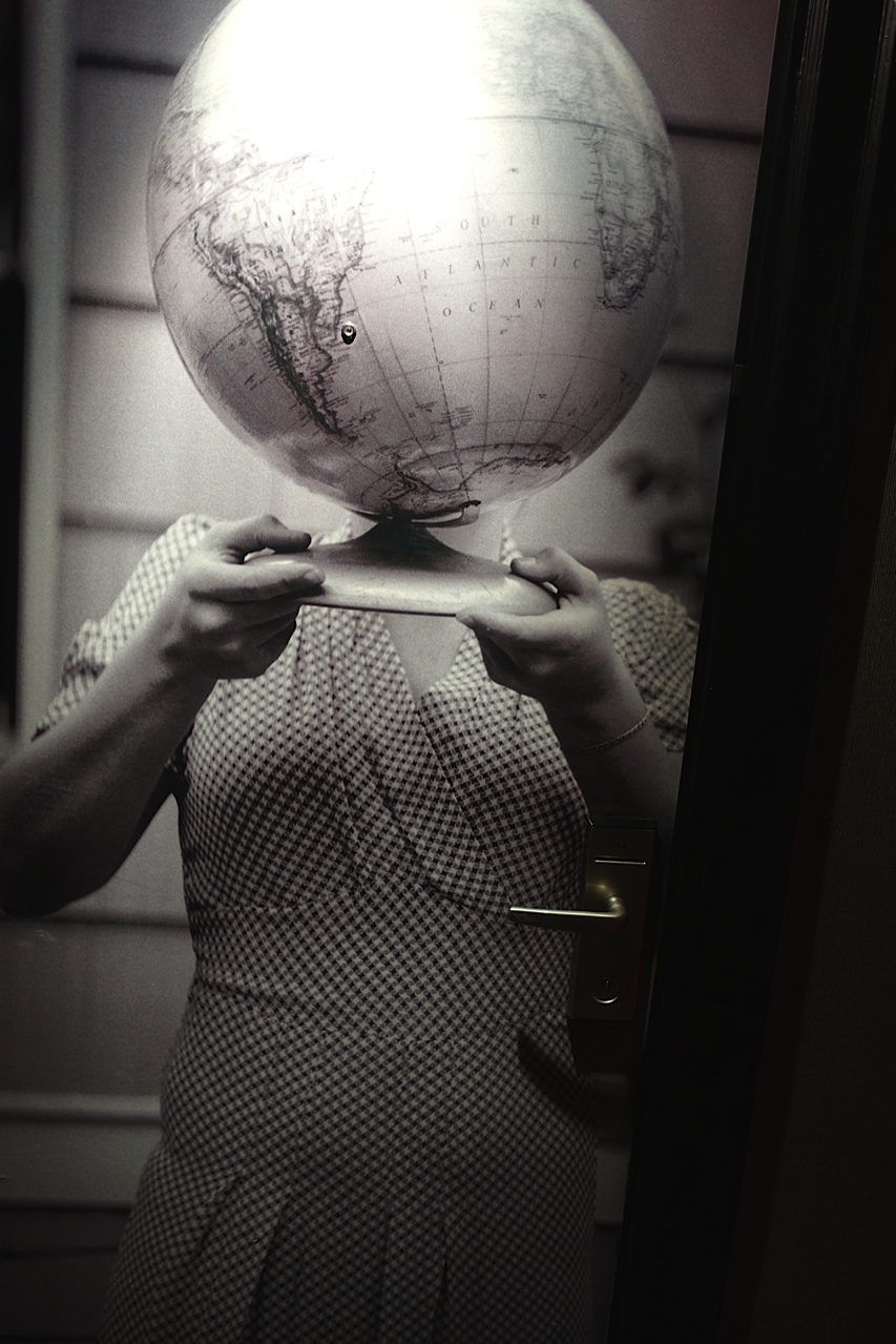 Erin Shafkind, Her head is in the world, photograph, 2nd floor