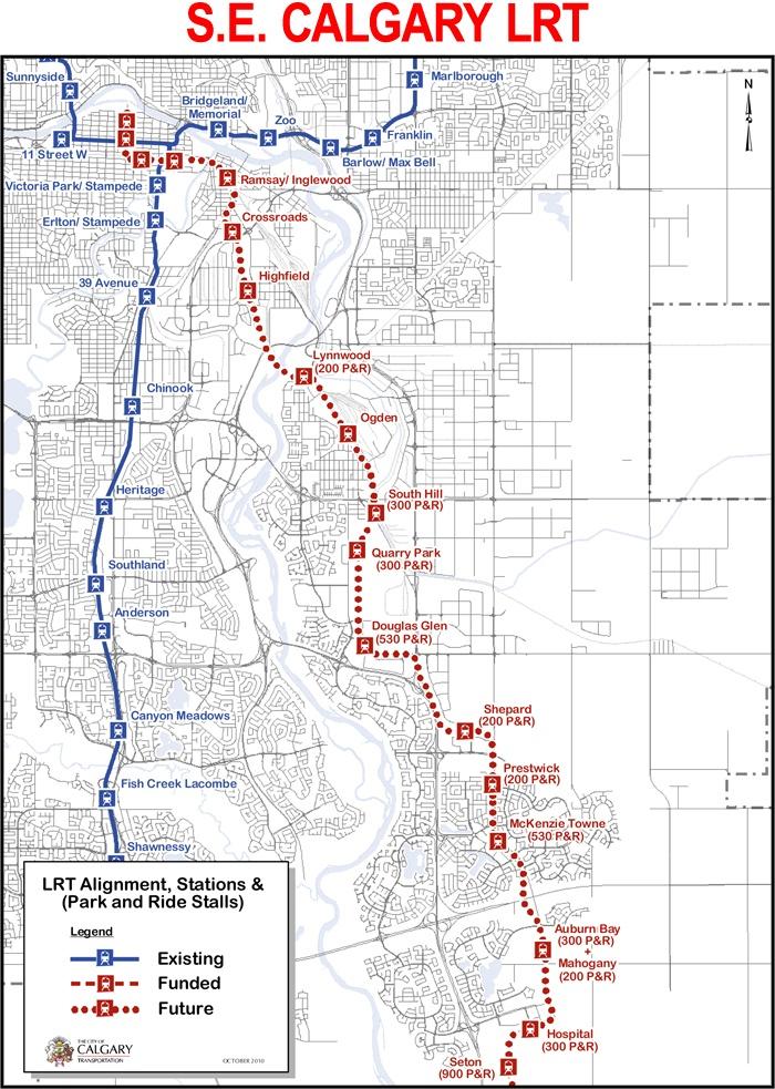 SE LRT route