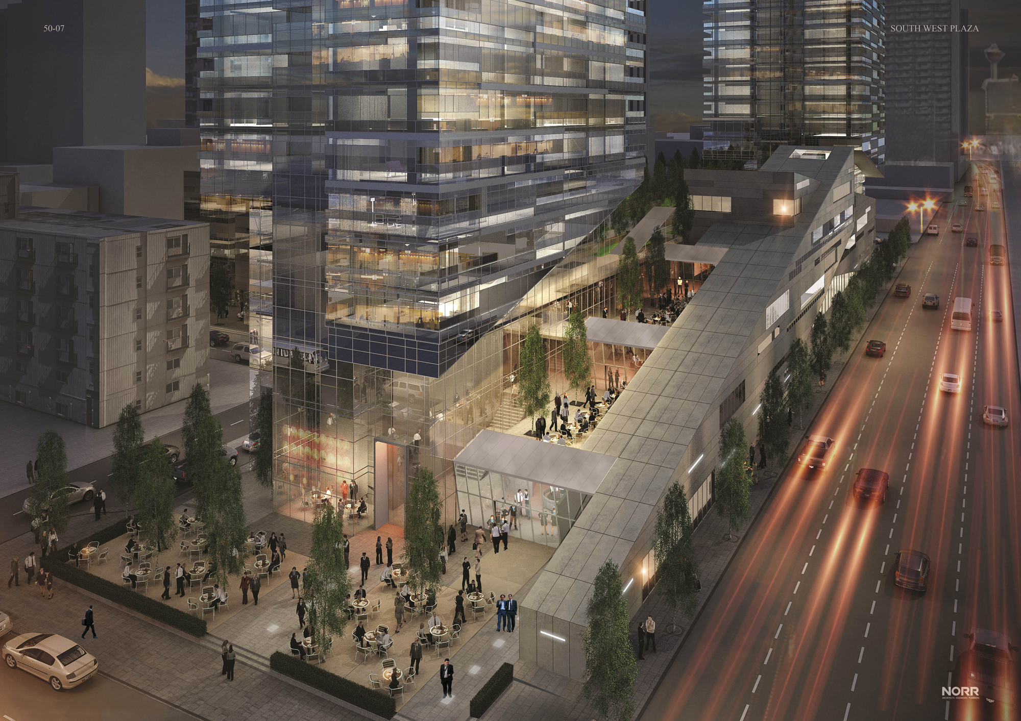 West Village Towers is a partnership between Wexford Developments and Cidex Group of Companies who retained NORR architects Calgary and Dubai offices, including world-renowned architect, Yahya Jan, to design West Village Towers, which will include 575 units and 90,000 sf of retail including a possible grocery store.