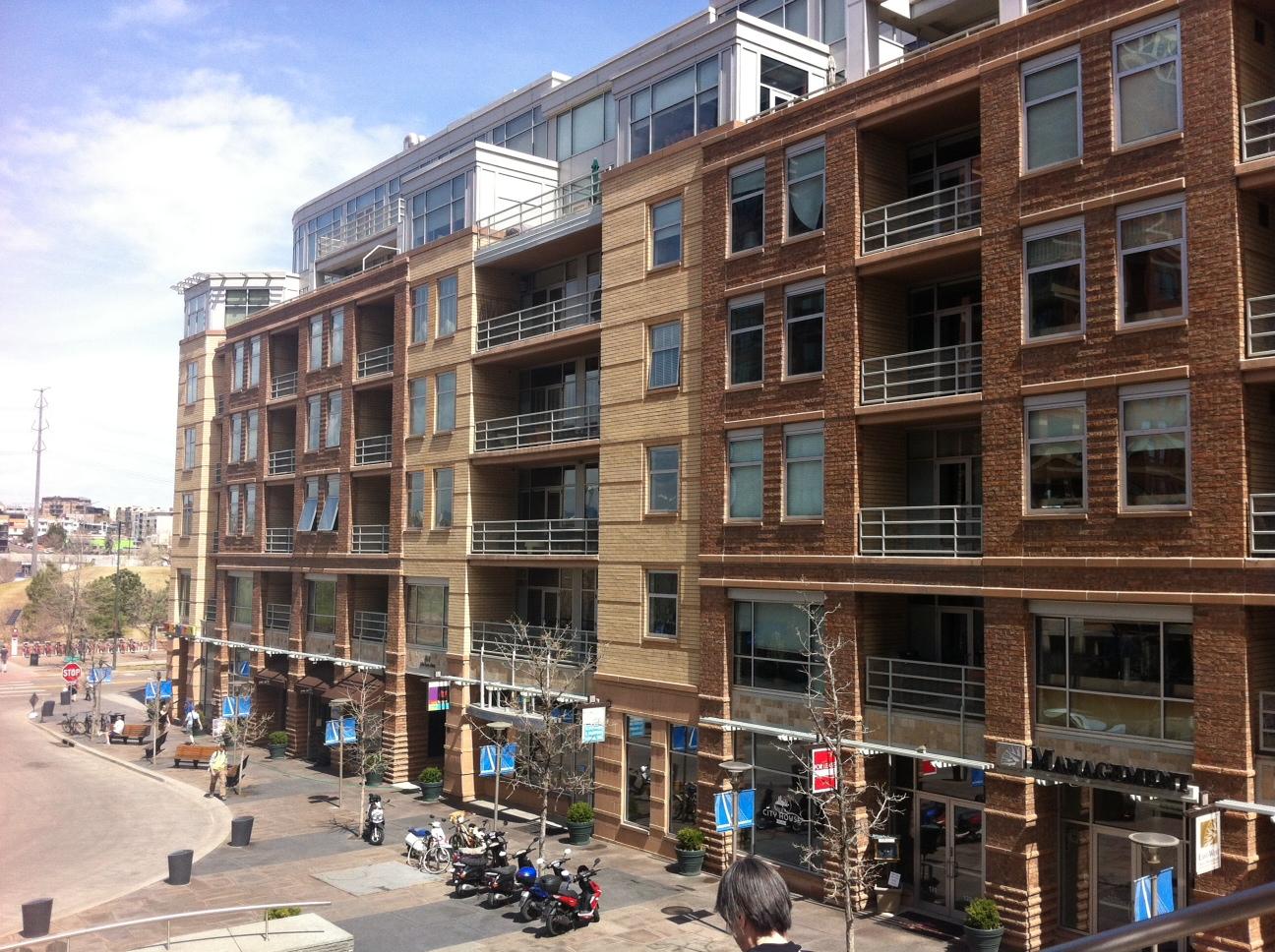 Condo block in Denver's LoDo districtcould easily fit into Calgary'sBridgeland or Kensington communities.