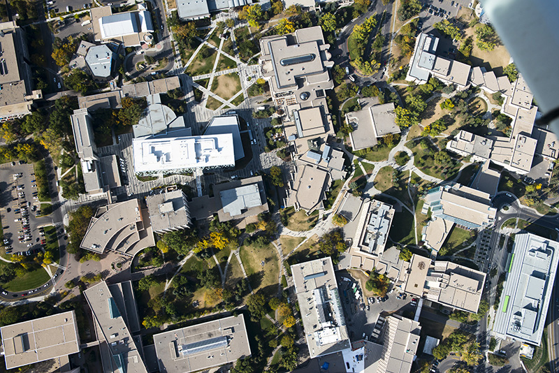 University of Calgary campus (photo credit peak aerials)