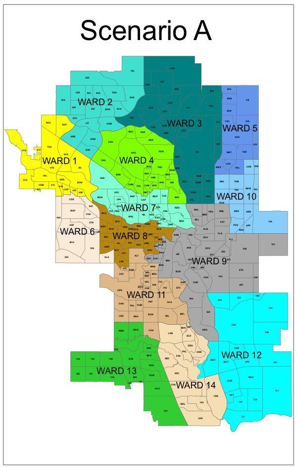 Ward boundaries scenario A