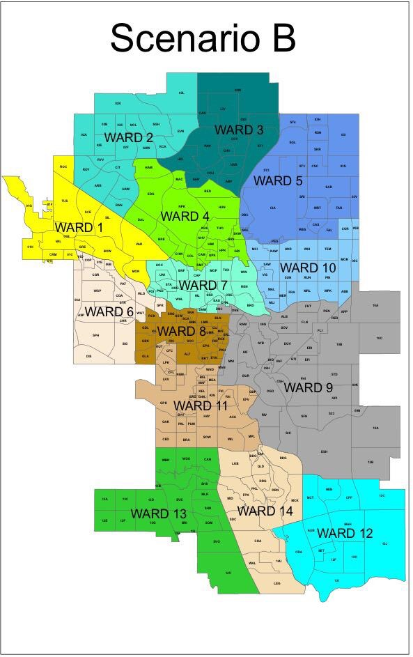 Ward Boundaries Scenario B