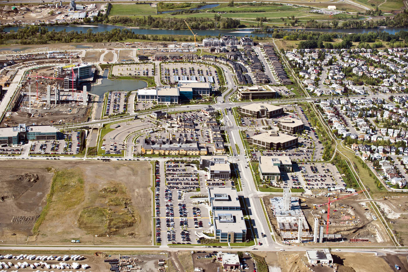 Quarry Park office, retail and residential development (photo credit: Peak Aerials)