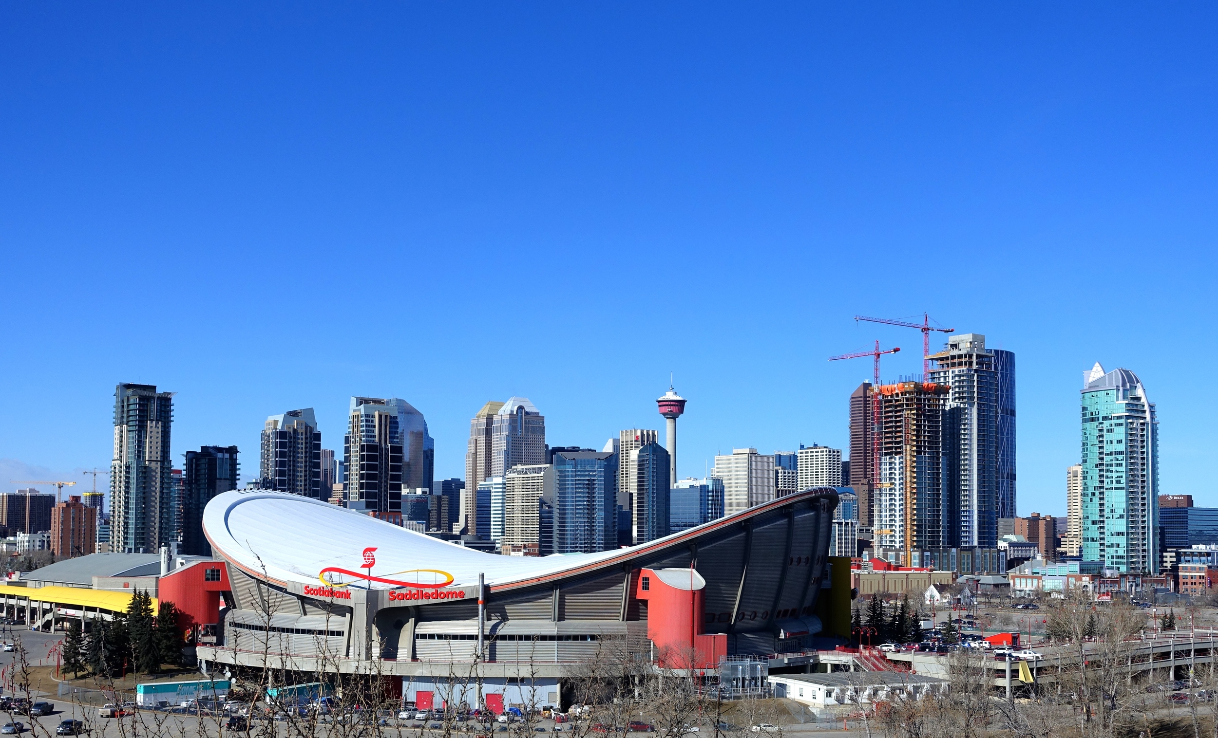 The Saddledome is one of Calgary's best examples of iconic architecture.
