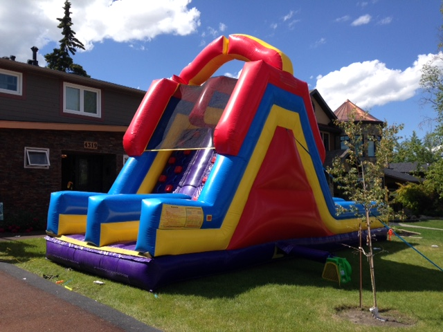 Found this fun front yard water slide in Altadore.  It was being used for a birthday party. How cool is a front yard birthday party!