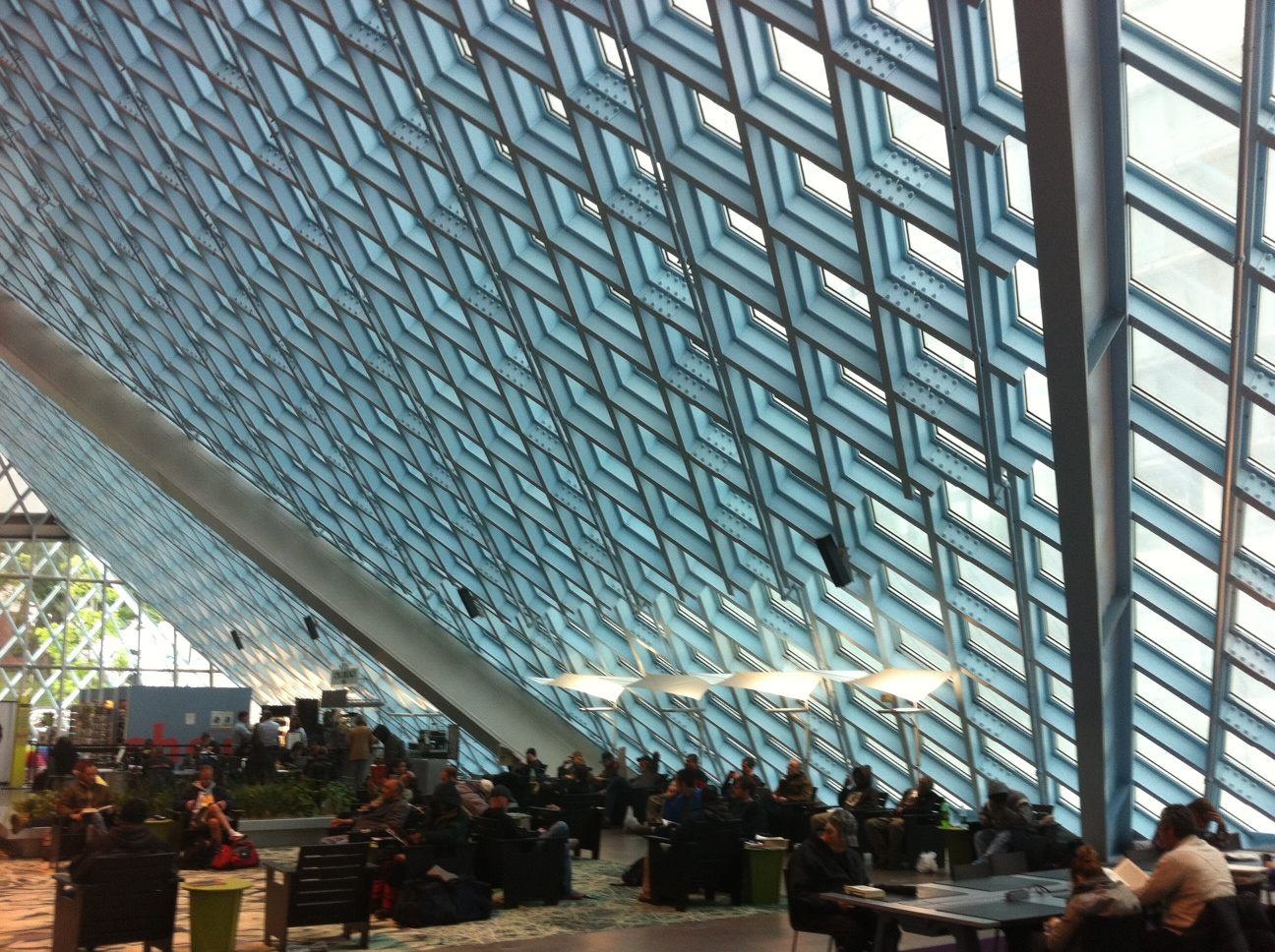 The Seattle Central Library is an iconic architectural gem that is popular with both locals and tourists.  Hopefully Calgary's new Central Library will have the same popularity.