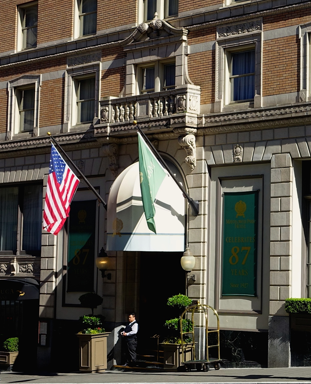 Mayflower Park Hotel is full of historic charm and character.  It is perfectly located for shoppers just a block away from Nordstrom and Macy's.