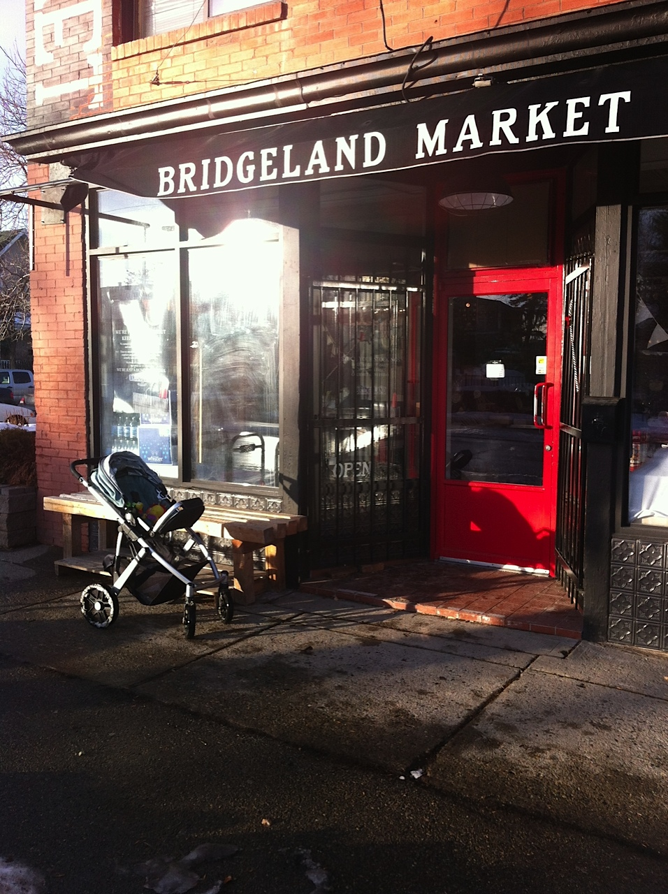 Bridgeland Market is located on 1st Ave and 10th St NE.