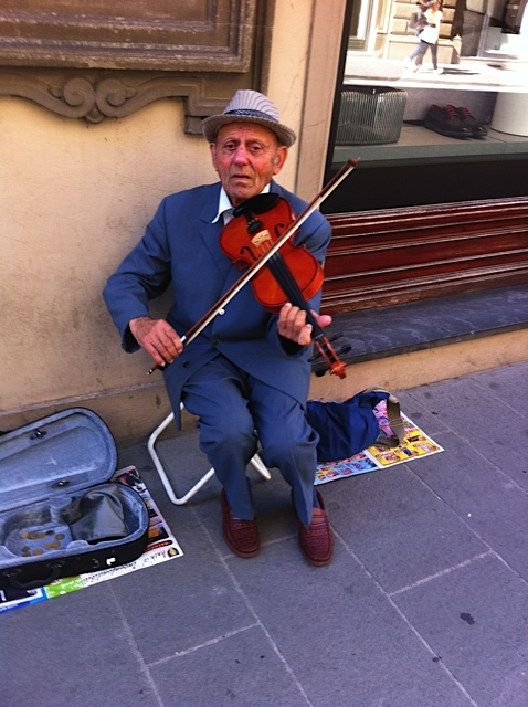 Busking with style.