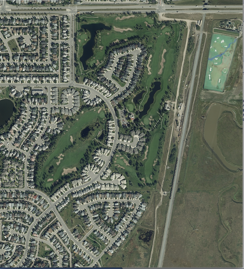 Google Earth image of Harvest Hills Golf Course today.