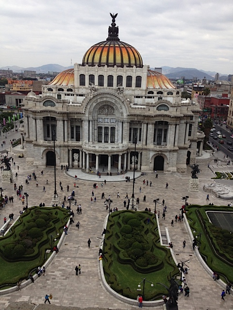Palaciao de Bellas Artes' Art Nouveau facade is equalled only by its impressive Art Deco interior that includes murals by some the greatest Mexican artists of the 20th Century. The concert/theatre space is magnificent and home to Mexico's iconic ballet company - Ballet Folklorico.
