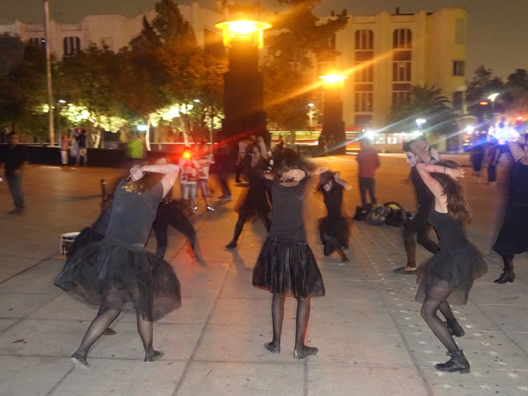 One night we were treated to an impromptu performance of all women moaning, groaning and dancing on the plaza next to the fountain. Great public spaces allow for lots of spontaneous activities.