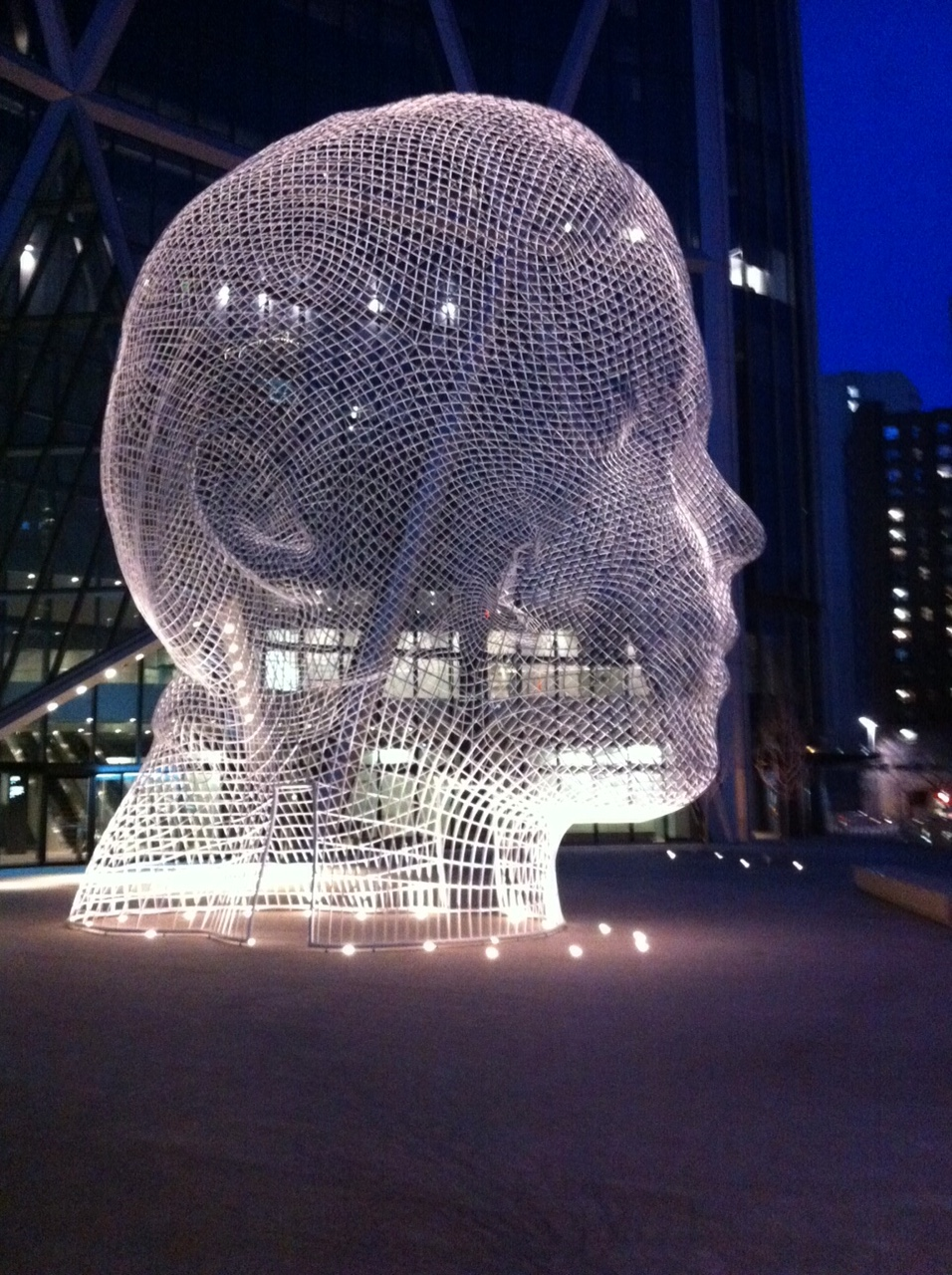 Wonderland, by Jaume Plensa, on the plaza in front of the Bow office tower corner of Centre Street and 6th Ave SW.