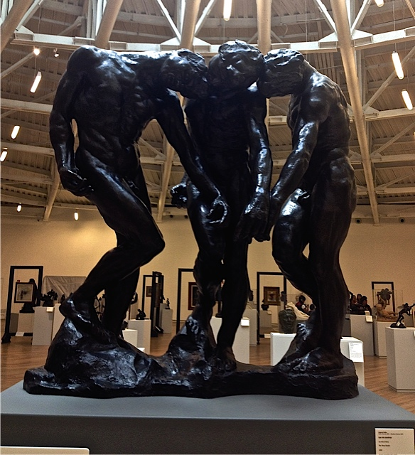 These dark powerful Rodins figures are centre piece of the gallery.