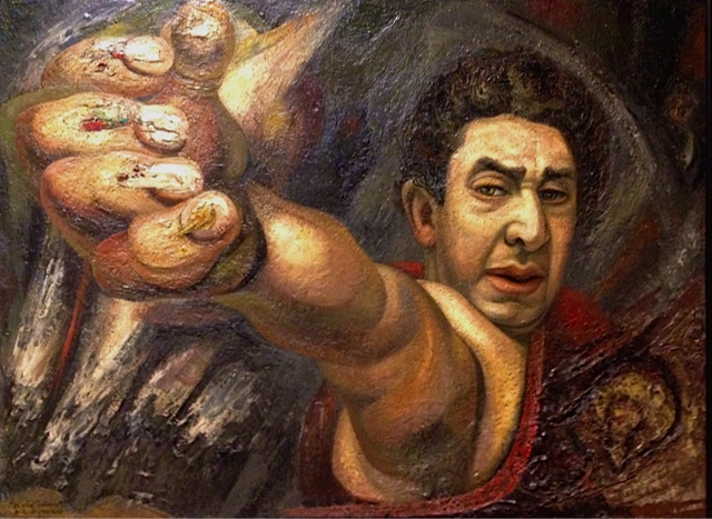 David Alfaro Siqueiros, Self Portrait, 1945 (Could he be taking a selfie?)