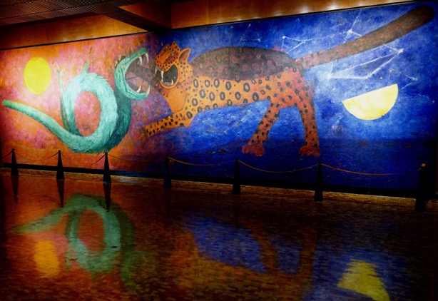 "Tamayo's bold and beautiful mural graces the entrance to Mexico City's insightful Anthropology Museum a ""must see"" for all North Americans."