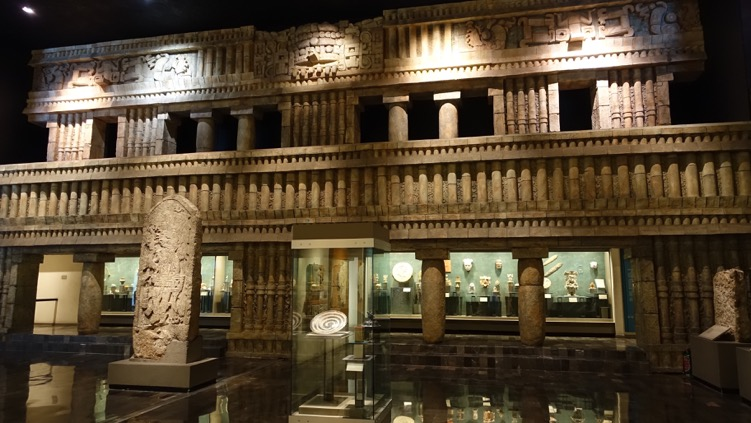 The exhibition spaces are a wonderful link to the architecture and artifacts of past cultures.