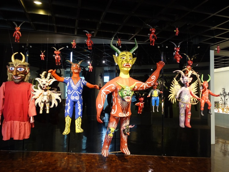 The galleries were full of exhibitions of crafts of all kinds.  These devil creatures captured by imagination.