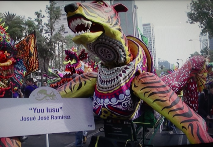 An image from the video of the Night of the Alebrijes Parade