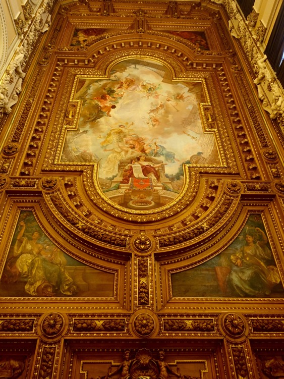 Just one of the many ceiling paintings. They were truly heavenly!