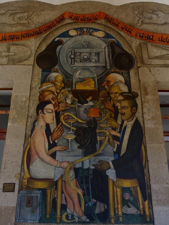 Wall Street Banquet, Diego Rivera