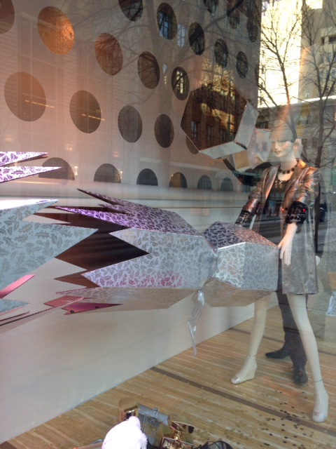 I am thinking this suggestive party cracker themed window by Holt Renfrew turned some heads?