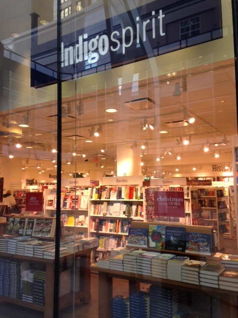 Indigo Books' huge window on Stephen Avenue is hardly what you would expect from a major retailer during the holiday season.