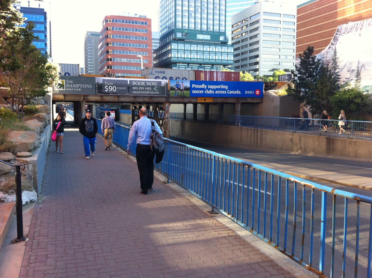 The 8th Street underpass linking 10th Ave with downtown's 9th Ave is currently under construction to create a more pedestrian friendly connection.