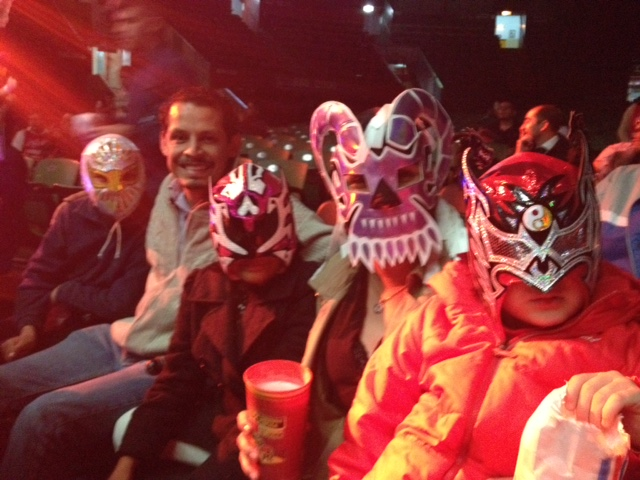 The entire family gets into fun of a night out at Lucha Libre in Mexico City.