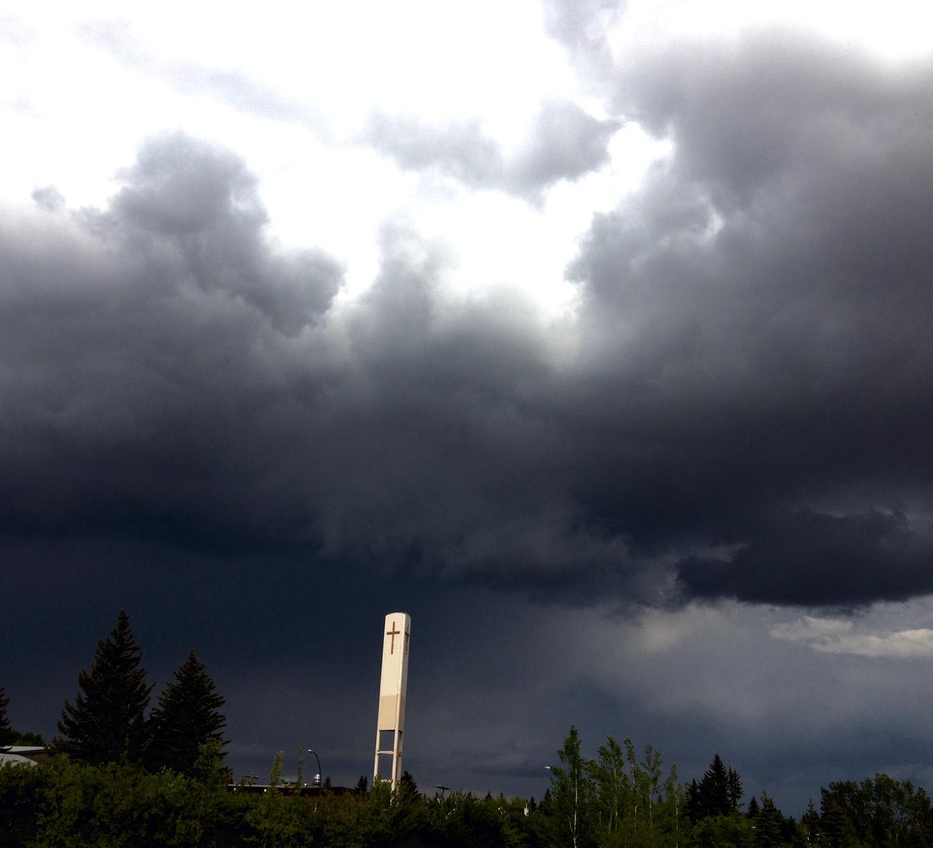 Approaching storm, Altadore, Calgary