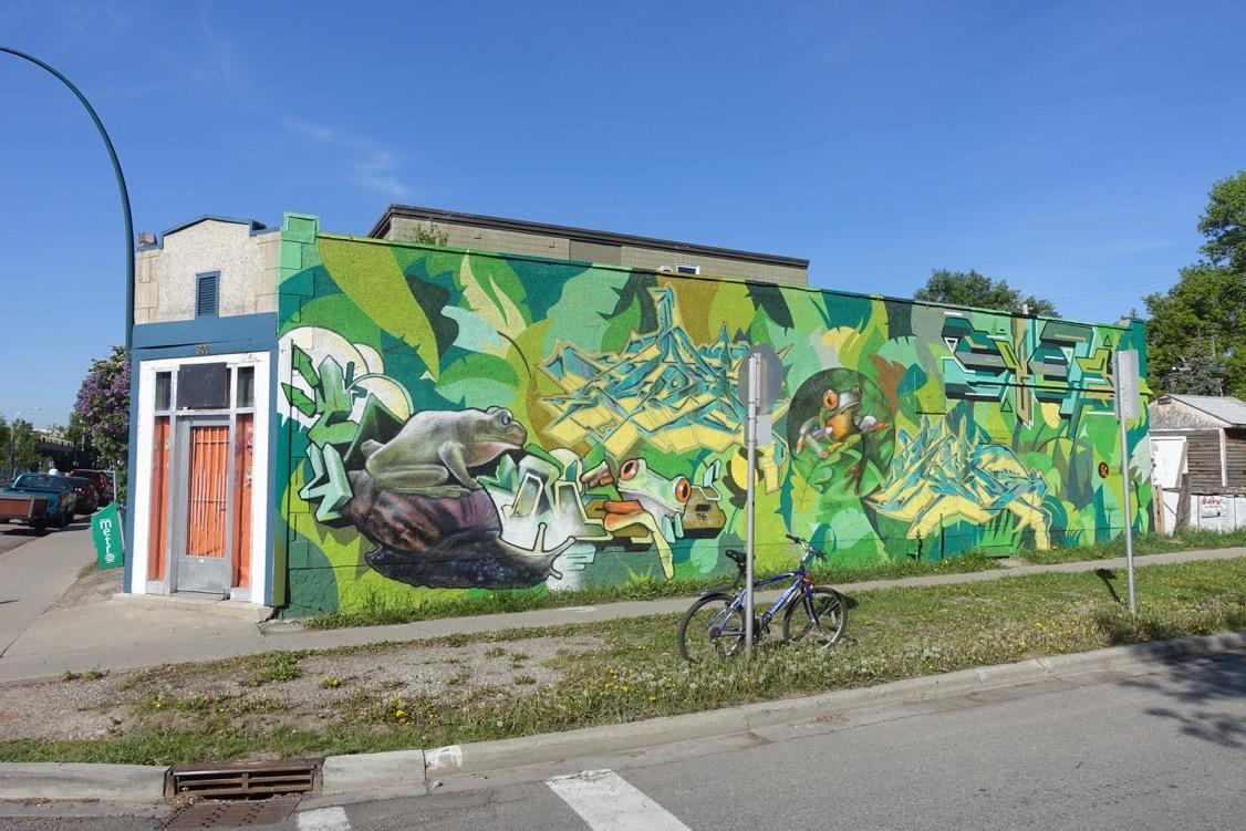 Street art in Calgary's Sunnyside community.